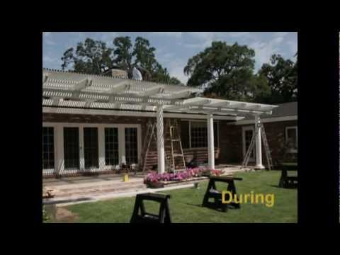 Patio Cover Professional Tom Yancey Installs Dura-Wood Trellis Patio Cover - 916.979