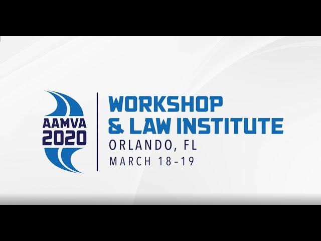 2020 Workshop & Law Institute Promo