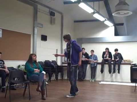 Youth Theatre Members rehearse DNA by Dennis Kelly