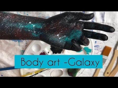 Aesthetic Galaxy Body Art Asmr Acrylic Painting Art Youtube