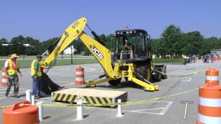 Backhoe Competition, NCDOT State Roadeo 2013
