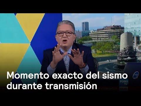 Momento exacto del sismo en México durante transmisión en vivo - sismo