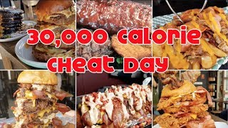 INSANE 30,000 Calorie Cheat Day   3,000 Subscriber Special