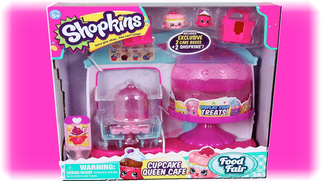 Shopkins Season 4 Food Fair Cupcake Queen Cafe Unboxing Review With