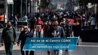 Visitantes del Centro Histórico de la CDMX celebran apertura de actividades, pese a otra semana con semáforo rojo