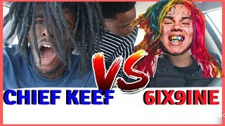 CHIEF KEEF VS. TEKASHI 6IX9INE AUX BATTLES! CHRIS IS BACK!