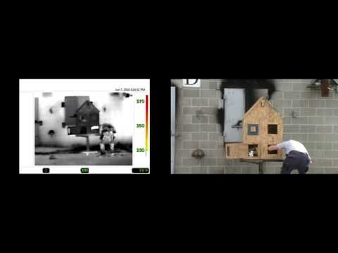 Doll House Small Scale Live Fire Behavior Prop - Fire Flow Paths