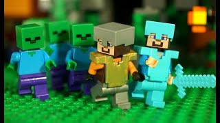 НУБ против Зомби Мультфильм Лего Майнкрафт Лаки Блоки Троллинг Мультики Lego Minecraft Animation