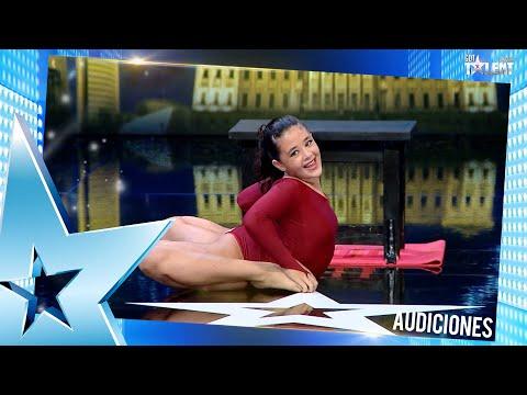 ¡Es de goma! LUCÍA impresionó a todos con su contorsionismo