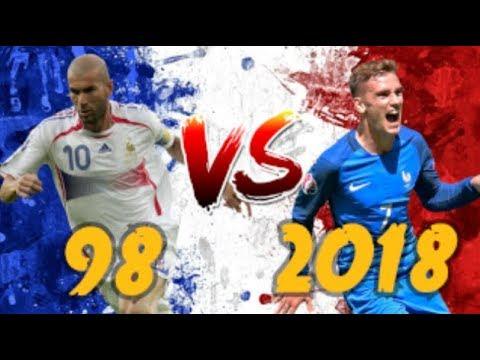 FRANCE 98 VS FRANCE 2018 !!! QUI GAGNE ? - YouTube