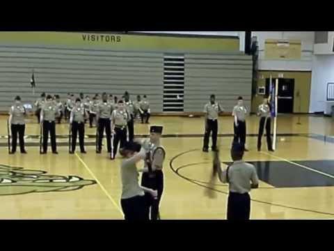 Harold L. Richards high school 2013-14 NJROTC Change of Command Armed Ex 3 man team 2014