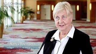 Nancy Boettger,Regent, State of Iowa Board of Regents –AGB OnBoard Customer Story