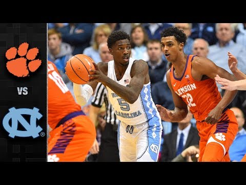 Clemson vs. North Carolina Basketball Highlights (2017-18)