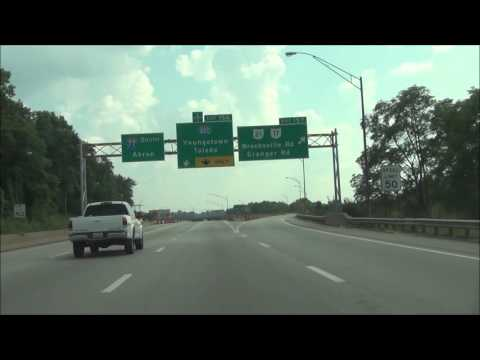 Ohio - Interstate 77 South - Mile Marker 163 to 150 (9/6/15)