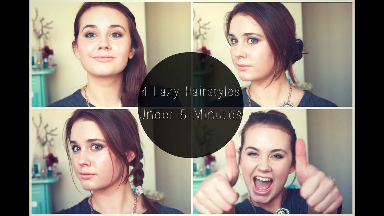 ☆4 Lazy Hairstyles In Under 5 Minutes!☆