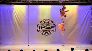 Doubles Sebastian Hernandez & Andrea Chacon of Colombia - IPSF World Pole Sports Championships 2018