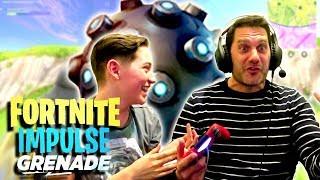 IMPULSE GRENADES FAIL!! Dad plays Fortnite Battle Royale 😂