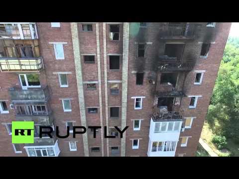 Ukraine: Drone footage captures level of destruction in Donetsk