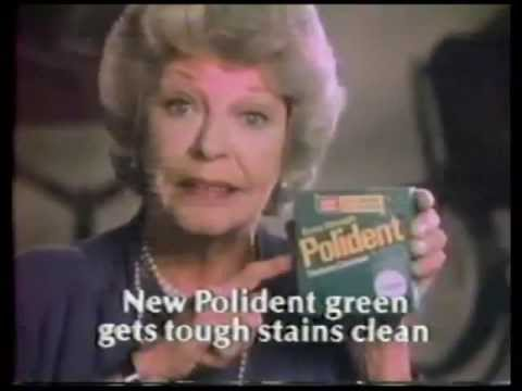 Extra Strength Polident denture cleaner commercial  with Martha Raye