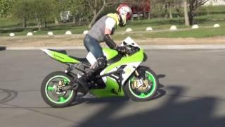 Дрифт на мотоцикле Kawasaki ninja Alex Burn