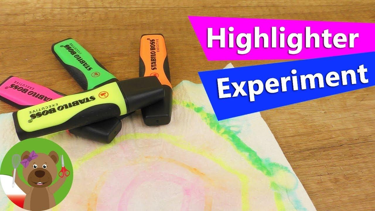 DIY Eksperyment z kolorowymi markerami | materiał do DIY | prosty eksperyment dla dzieci