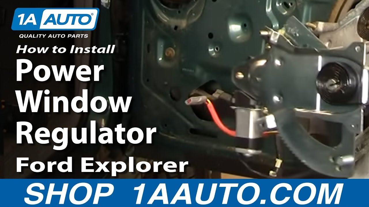 how to replace front window regulator 91 01 ford explorer [ 1280 x 720 Pixel ]