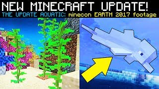 "NEW MINECRAFT OCEAN UPDATE ""Update Aquatic"" NEWS (Minecon Earth)"