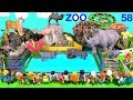 Wild Zoo Animal Toys For Kids - Learn Animal Names and Sounds - Learn Colors with Animals 58