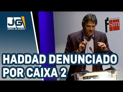 MP denuncia Haddad por caixa 2 de campanha