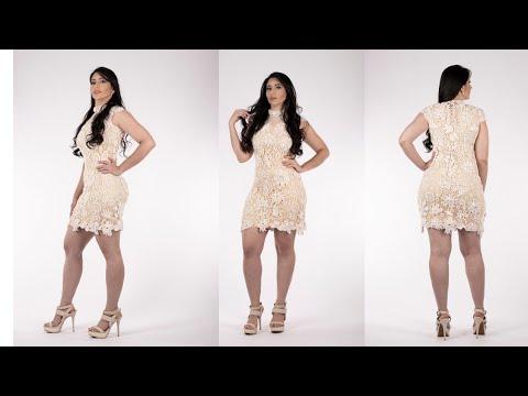 2da47a8d0577 crochê irlandes vestido rendado terceiro motivo - YouTube