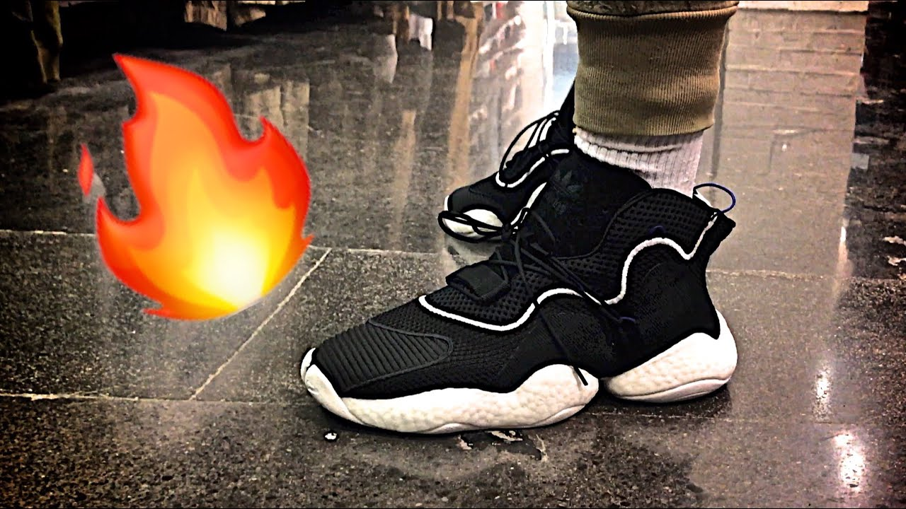 Adidas Crazy BYW lvl 1 Boost zapatilla Preview y a pie YouTube