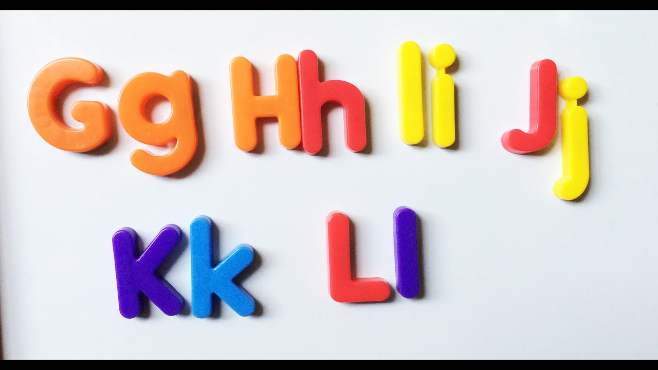 Learning phonics using alphabet fridge magnets g l pt 2 4 for Letter fridge magnets game