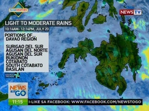 NTG: Weather update as of 11:16 a.m. (July 20, 2017)