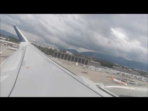 Aegean Airlines A320 Sharklets departing from Geneva