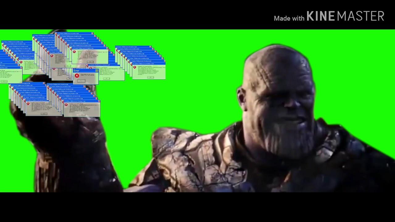 Thanos snap meme Windows error - YouTube