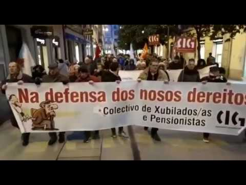Manifestación de pensionistas en Lugo
