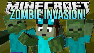 ZOMBIE INVASION | Minecraft: Blocking Dead Minigame!