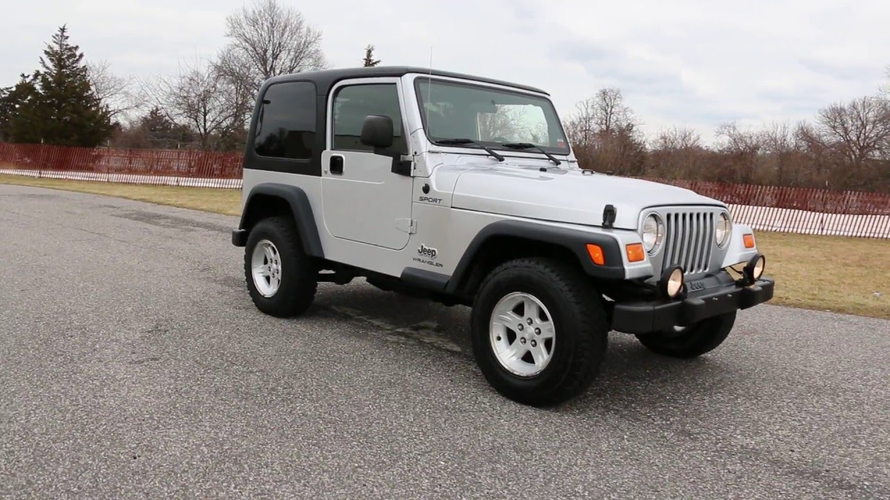2004 jeep wrangler tj sport for sale one owner auto hard top runs rh youtube com 2004 jeep wrangler unlimited owners manual 2014 Jeep Wrangler Owner's Manual
