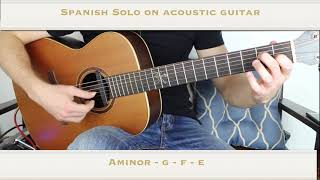 Spanish Guitar Solo ... On Acoustic Guitar.