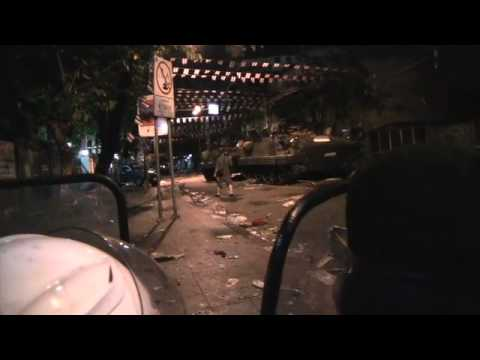Thai Army Clash with Red Protesters at Democracy Monument Pt 2