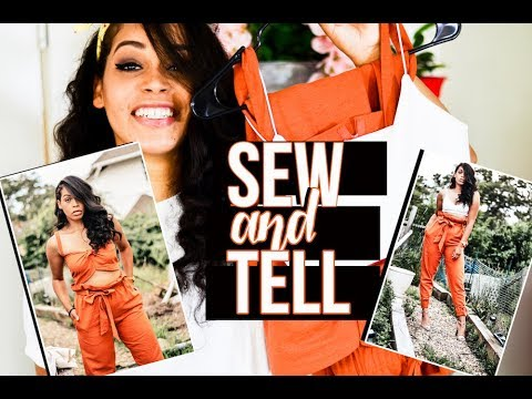 Making Paper Bag Pants, Front knot Crop Top and Spaghetti Strap Crop Top I Sew and Tell