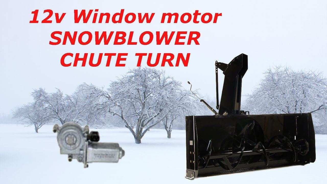 medium resolution of 12v window motor snowblower chute turn youtube