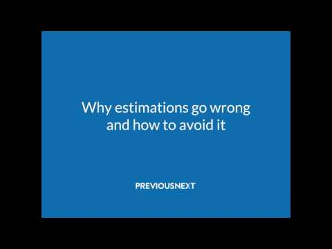Why estimations go wrong and how to avoid it