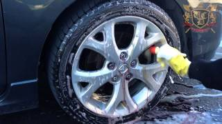 Ottawa Car Detailing - Iron-x wheel cleaner in action