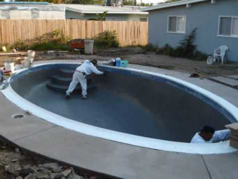 Pool Finish Colored Plaster Part One Doovi