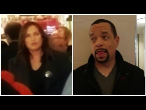 Ran Into Mariska Hargitay & Ice-T At The Mall!