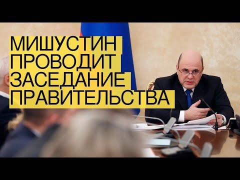 Мишустин проводит заседание правительства
