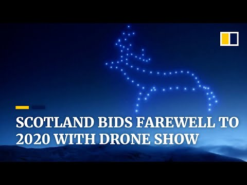Scotland bids farewell to 2020 with one of UK's largest drone shows amid Covid-19 pandemic