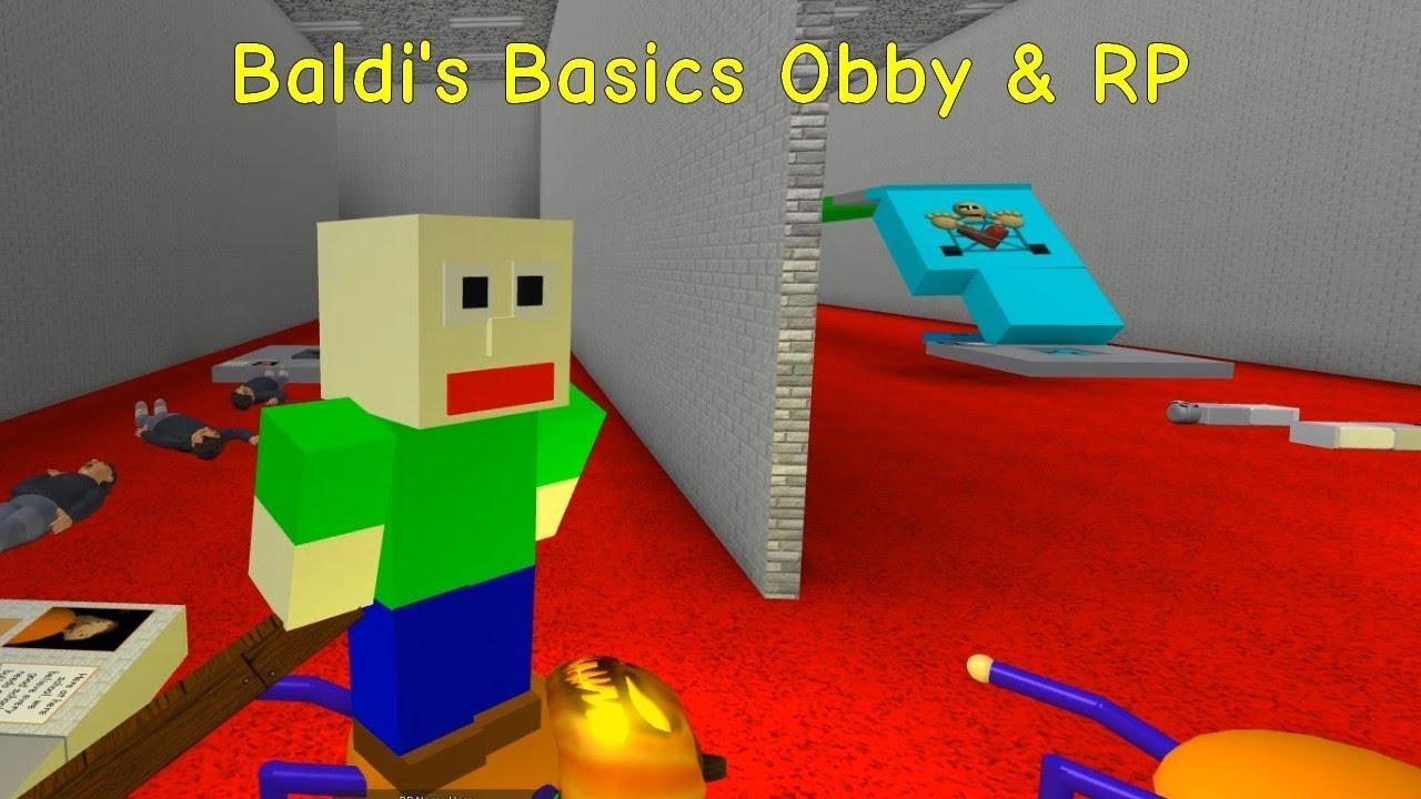 Baldi's Basics Obby Roblox Baldi S Basics Obby Rp Roblox Map Youtube