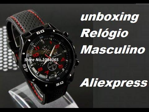 d8e17752df17e Umboxing Aliexpress  2  Relógio Masculino Aliexpress - YouTube